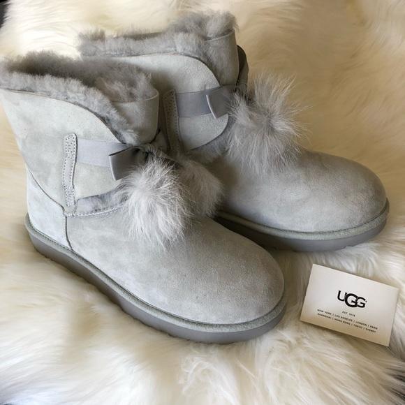 6f4b69b2a15 UGG Gita Boots Gray Violet 10 NWT